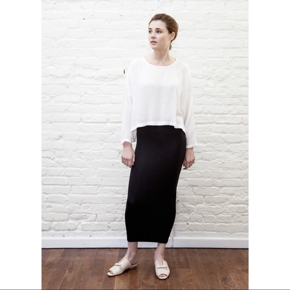 0784abdae6ce Mimu Maxi Skirts | Classic Black Midi Skirt Leggings | Poshmark